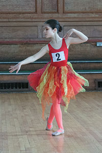 Junior Choreographic & Musicality winner, Raphaela Frederica Jewell, pupil of Penny Kay, 'Spark of Fire'