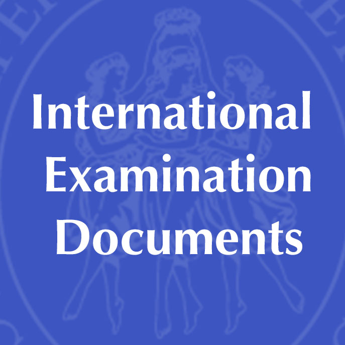 International Examination Documents