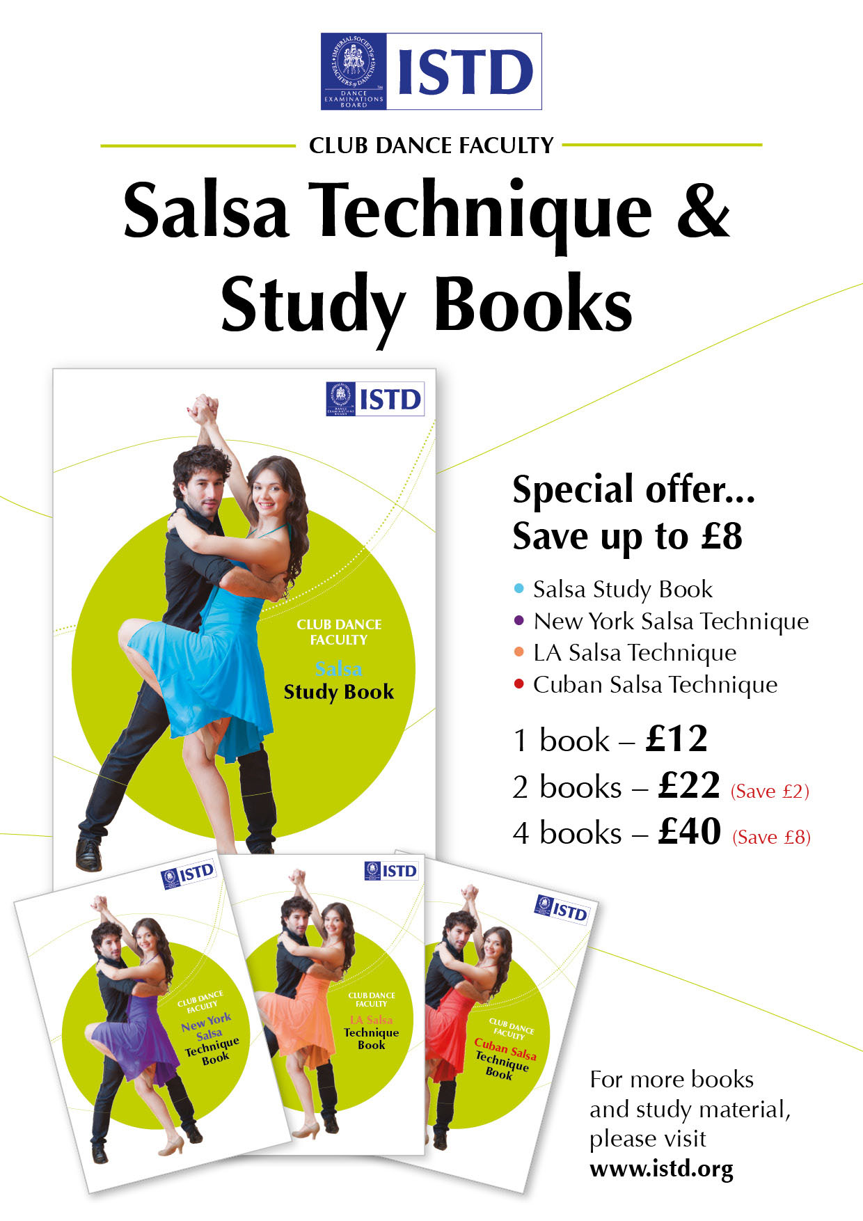New Salsa Technique and Study Books Poster