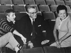 Paul Kimm and parents in the Genée Theatre