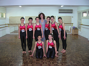 Candidates with examiner, Susan Garrard in Cyprus