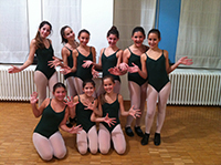 Pupils of Carole Watson in Italy who have just started to learn tap