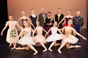 Cecchetti Classical Ballet Vocational Award winners with adjudicators Darius James and Anita Young (Photo by Elaine Mayson)