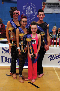 Imperial Dancer of the Year 2012 (L to R) Hannah Toovey, Alicia Tickner, Kaysha Cooper and Joe Atkinson