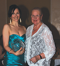 Diana Clifford, recipient of the 2013 Imperial Theatre Award with Paddy Hurlings