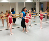 Young dancers in a class