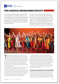 ISTD Classical Indian Dance History