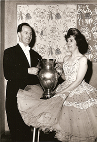With wife Joyce, Professional British Sequence Champions 1961