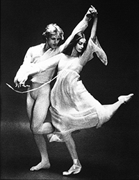 Peter Martins And Suzanne Farrell in 'Chaconne' by Max Waldman, 1976