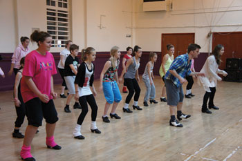 Matt Flint teaching a  Tap workshop