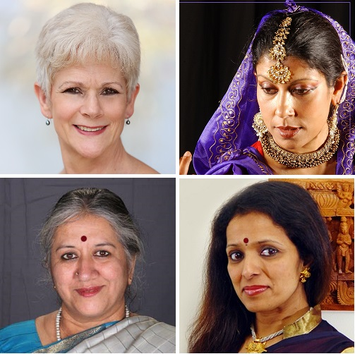 ISTD committee members: Vivienne Saxton (top right) Sujata Bannerjee (top right) Pushkala Gopal (bottom left) Chitraleka Bolar (bottom right)
