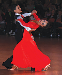 Couple dancing at the Blackpool Grand Finals 2013