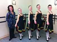 Sheahan Keinick and students from Crossings Dance following examinations in Calgary, Canada