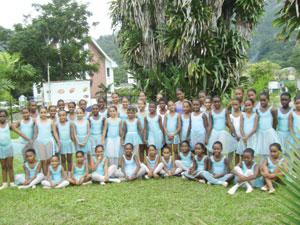 students of the National Conservatoire of Performing Arts in the Seychelles following their examinations