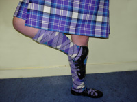 The Highland costume showing the correct position of the foot at the front