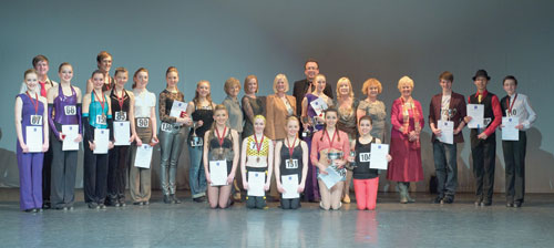 The prize winners and adjudicators