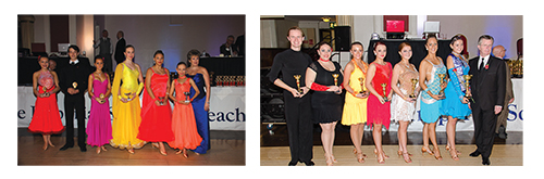 ISTD Vice Chairman of Dancesport Faculties, Yvonne Taylor-Hill and Chairman of Dancesport Faculties Board, Richard Hunt