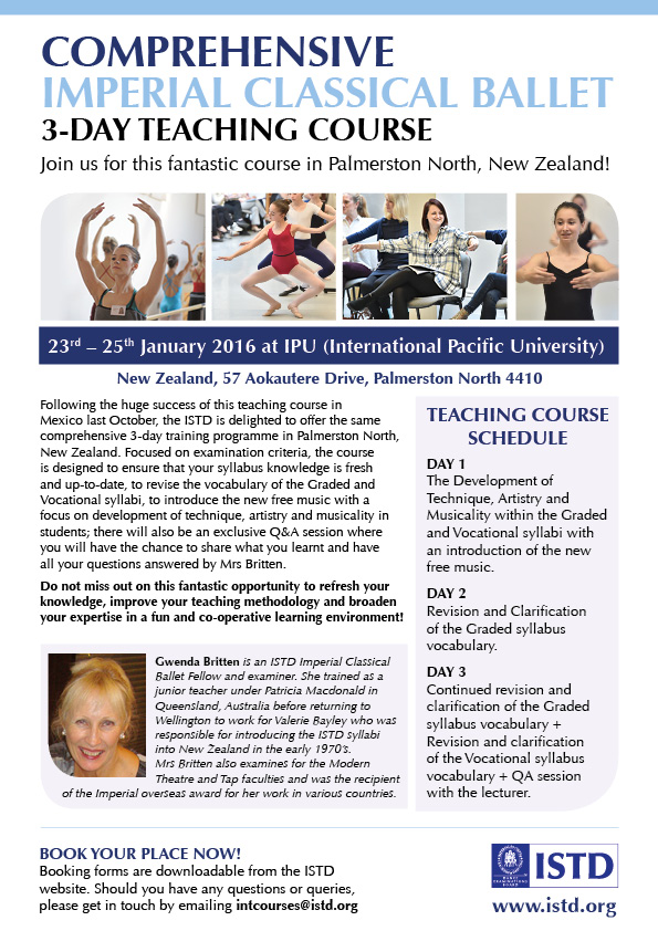 Comprehensive Imperial Classical Ballet Teaching Course - New Zealand