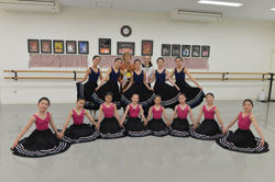 Heather Rees and Lisa Maria Johannsen-Sawamura with the very first National Dance candidates in Japan at the Lisa Maria Ballet Arts School