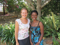 Claire Crowley with OYO Deputy Director Evelina Ashipala