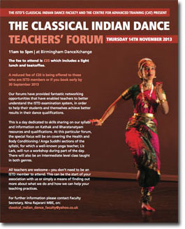 Classical Indian Dance Teachers Forum 2013