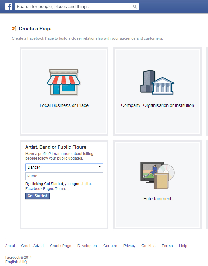 how to create a public group facebook page