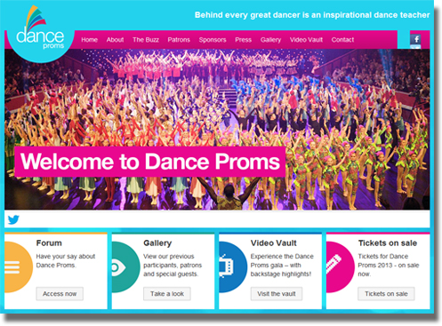 Dance Proms 2013 - website