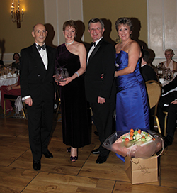 (L–R) Vernon Kemp, Jill Bush, recipient of the 2013 Imperial Dancesport Award, Richard Hunt and Yvonne Taylor-Hill