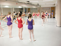 Young dancers taking a class