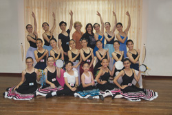Heather Rees and Serena Tan with ISTD 2012 candidates from Serena Ballet School, Klang, Malaysia