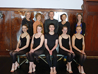 In a quiet moment – Senior Candidates at the Fraser Valley Academy of Dance, Mission , BC in Vancouver Canada, with members of staff back row – (L to R) Penelope, Boyse, Heather Rees, John Carney, Caroline Carney and Catherine Potockey