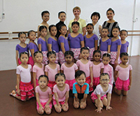 Students following their Medallist Tests with examiner Jill Bush at Allegro Dance & Music School, Seremban, West Malaysia in October 2013