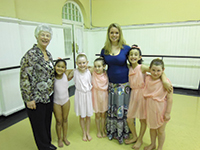 Classical Greek teacher and examiner, June Gruneberg, with her pupils following exams in Cape Town in October 2013