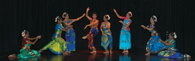Summer School Finale Performance photo by courtesy of the Bhavan Centre, London