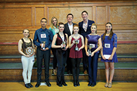 Kylie Cruikshanks, Bill Deamer and Alan Burkitt with Premier section award winners