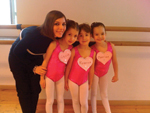 Teacher Giovanna Lanave with her pink-loving, Class Exam Primary Modern students, in Bari, Italy