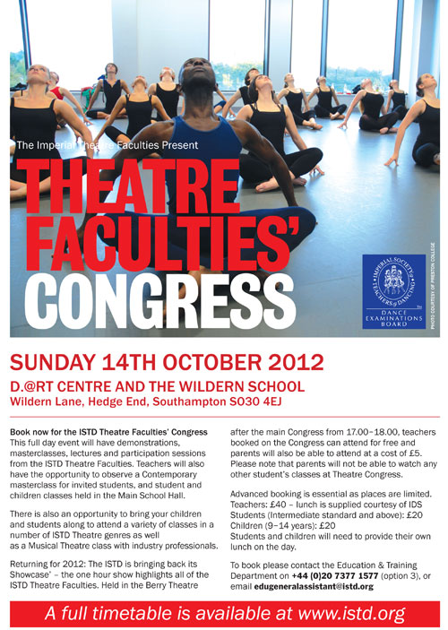 Theatre Faculties' Congress - poster