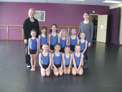 Vancouver teachers Chelsea Steyns and Taryn Patterson with their pupils